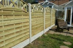 Decorative Jasmin Fence Panels, Concrete Posts, Risca, Newport, NewFence