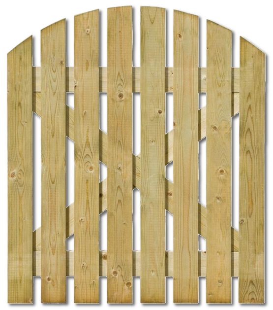 Domed Wooden Path Gate